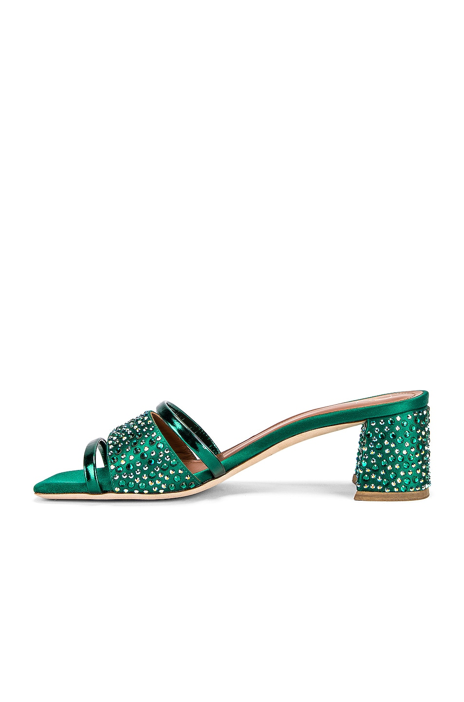 Image 5 of Malone Souliers Rosa 45 Mule in Emerald Green