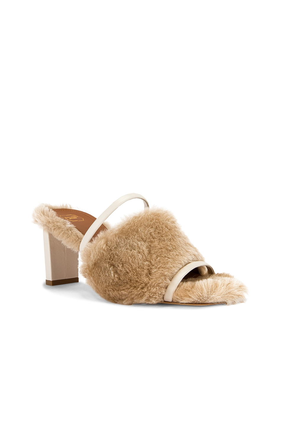 Image 2 of Malone Souliers Demi MS MT 70 Mule in Beige & Cream