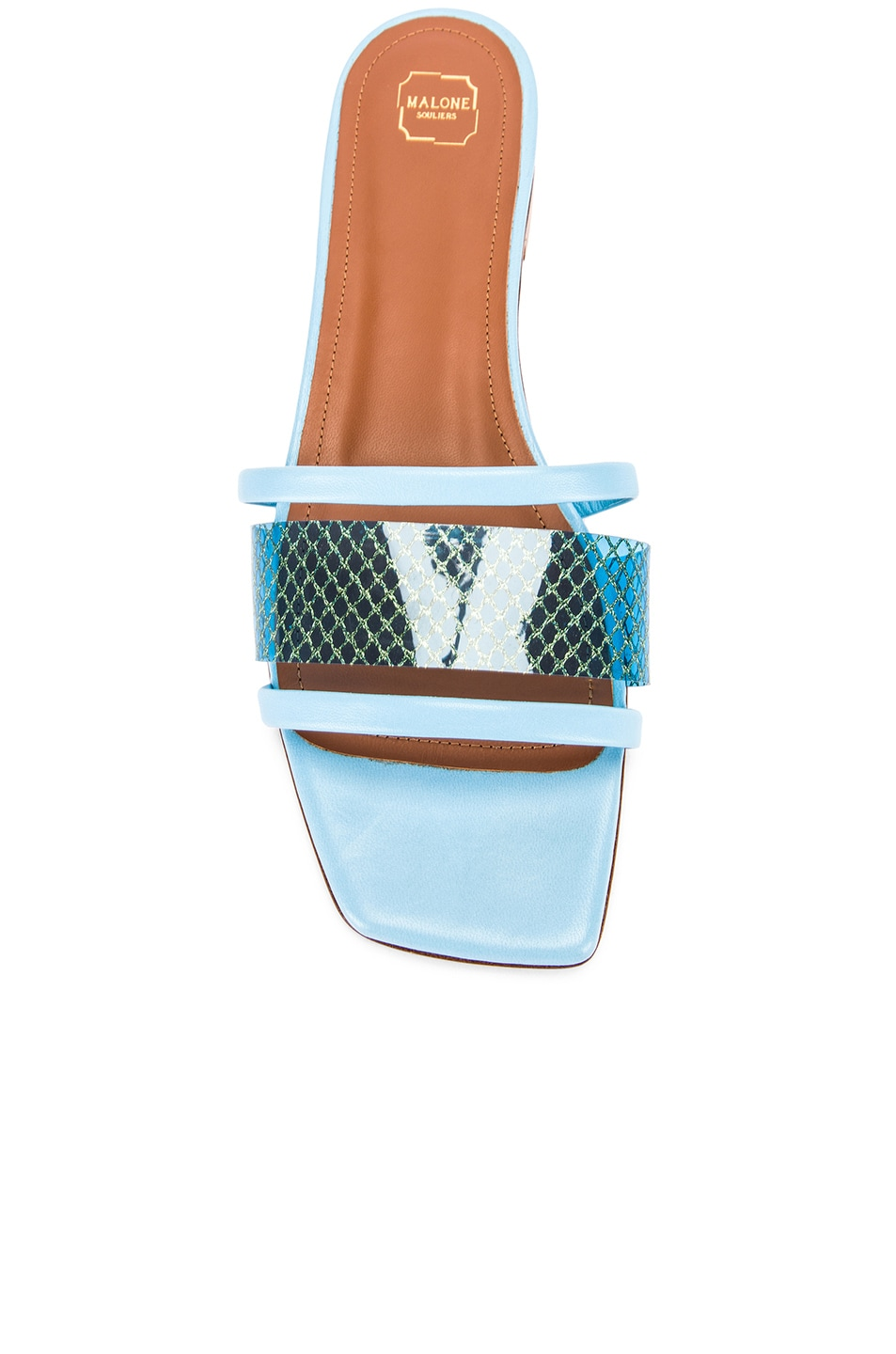 Image 4 of Malone Souliers Demi Flat in Sky Blue