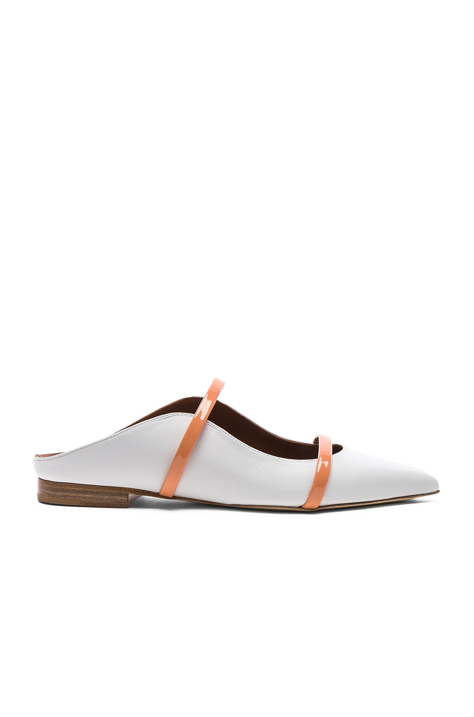 Image 1 of Malone Souliers Maureen Flat in White & Peach