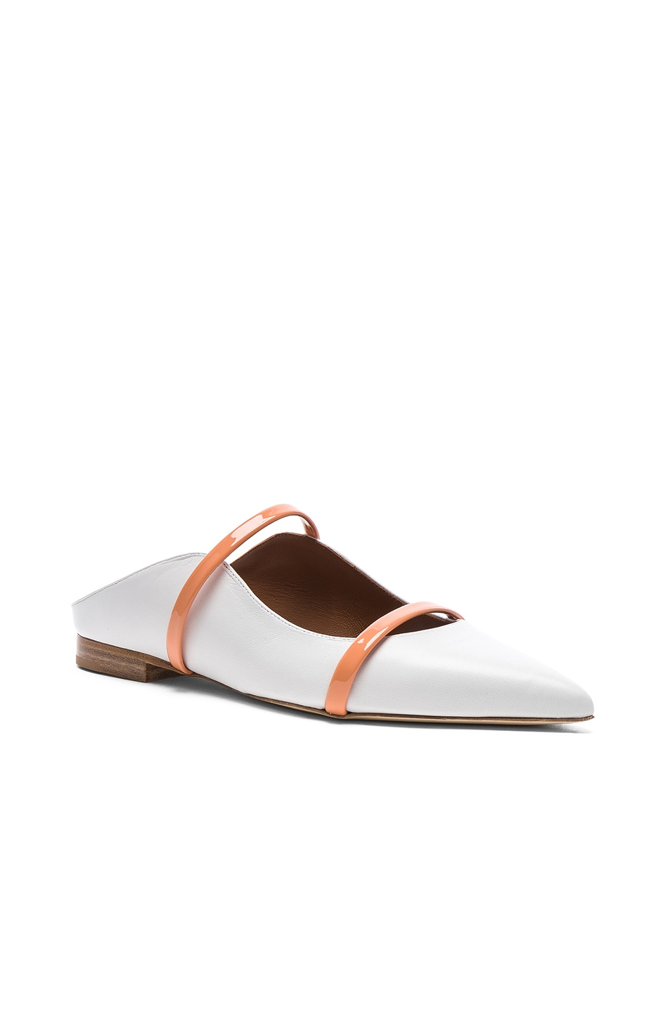 Image 2 of Malone Souliers Maureen Flat in White & Peach