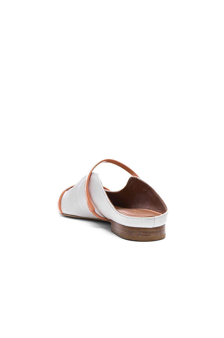 Image 3 of Malone Souliers Maureen Flat in White & Peach