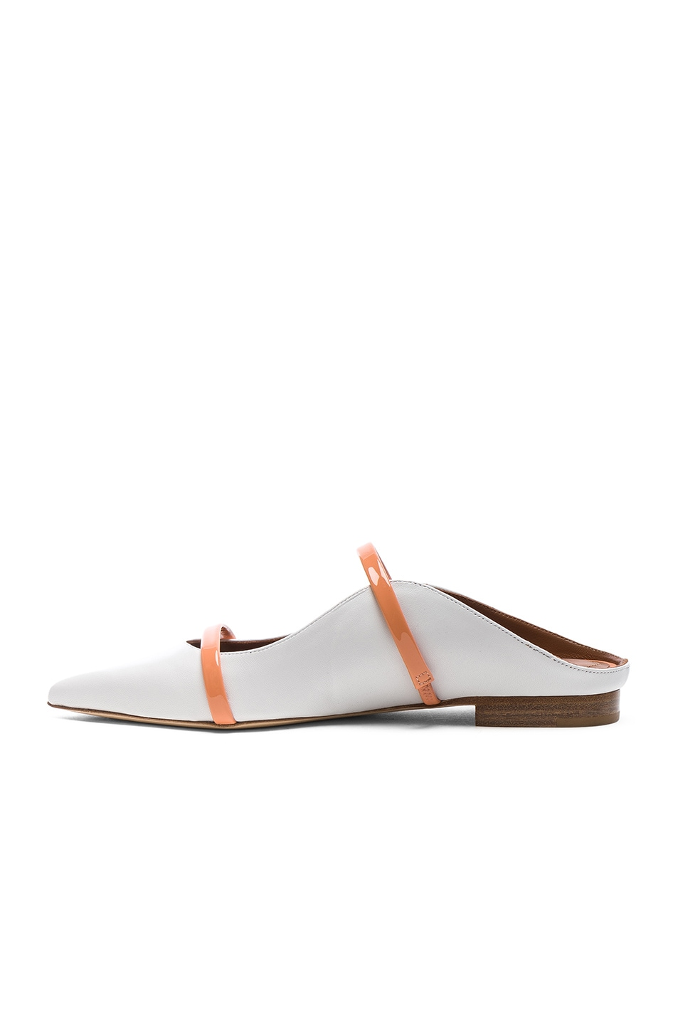 Image 5 of Malone Souliers Maureen Flat in White & Peach