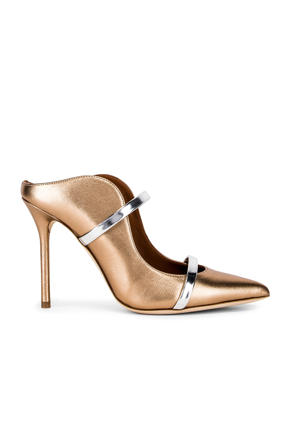 Image 1 of Malone Souliers Maureen Heel in Gold & Silver
