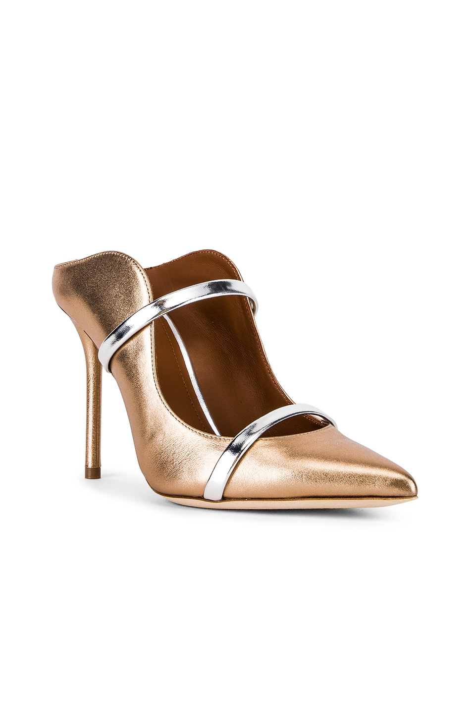 Image 2 of Malone Souliers Maureen Heel in Gold & Silver