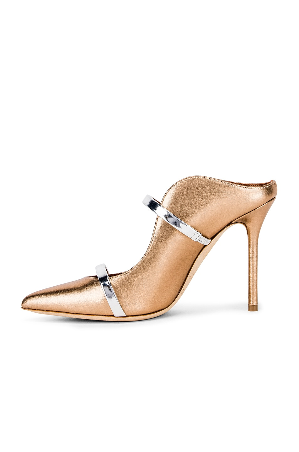 Image 5 of Malone Souliers Maureen Heel in Gold & Silver