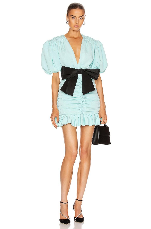 Image 1 of MARIANNA SENCHINA Eye Candy Mini Dress in Sky Blue