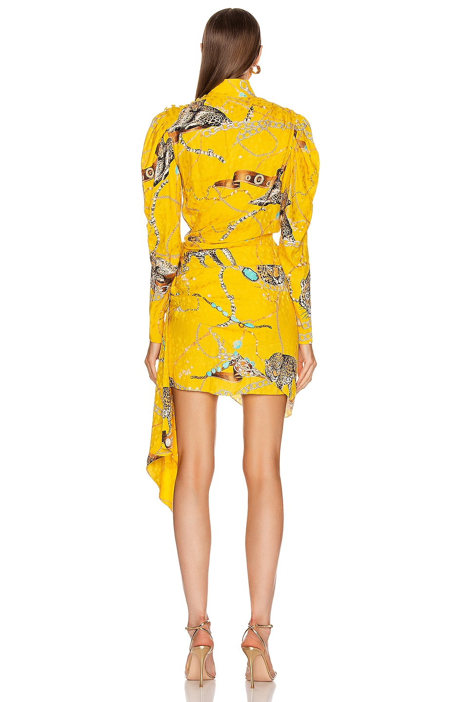 Image 4 of MARIANNA SENCHINA Leopard Print Mini Dress in Yellow