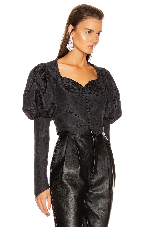 Image 2 of MARIANNA SENCHINA Shortened Bustier Jacket in Dark Blue