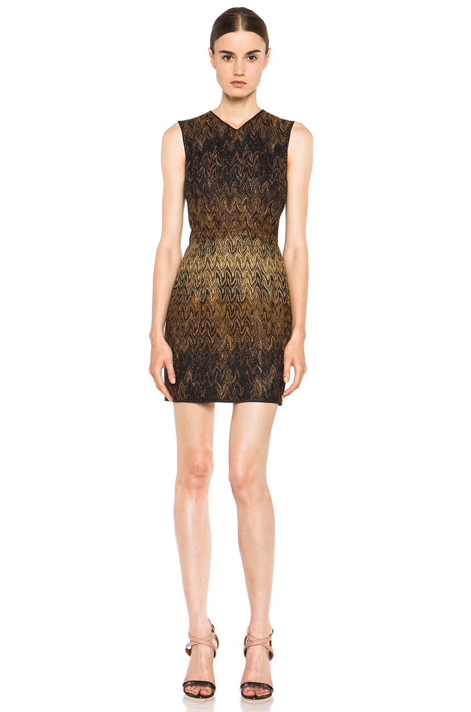 Image 1 of Missoni Knit Dress in Black & Brown