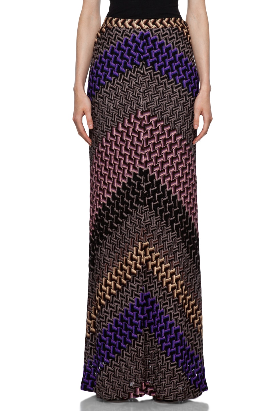 Image 1 of Missoni Maxi Skirt in Purple Multi