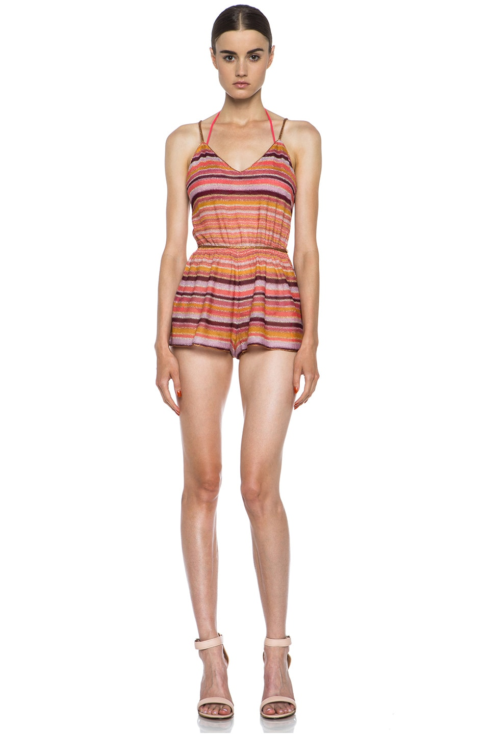 Image 1 of Missoni Short Knit Romper in Coral