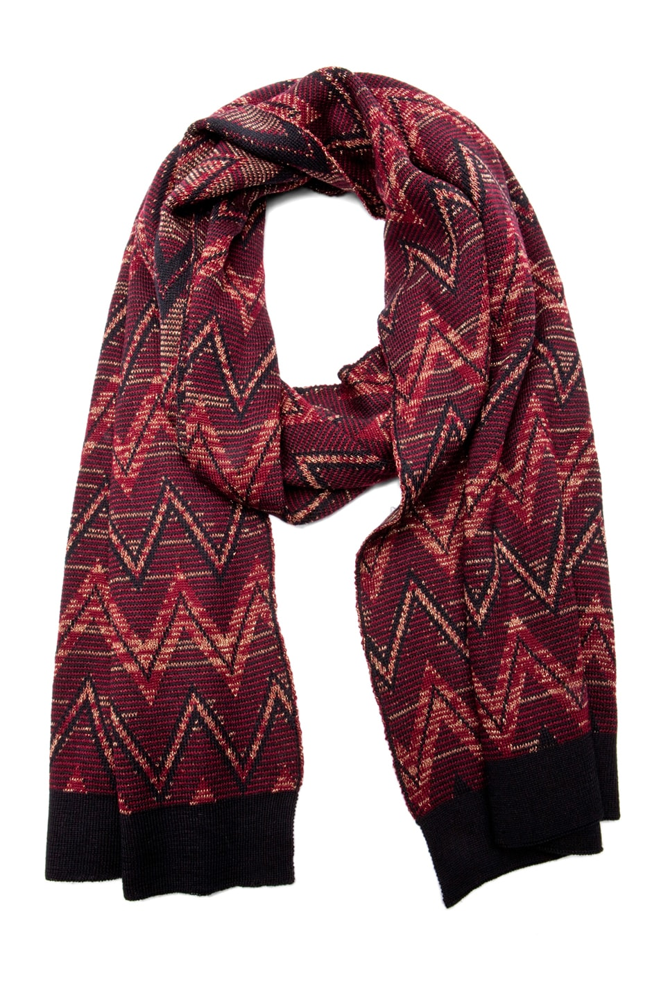 Image 1 of Missoni Scarf in Dark Red