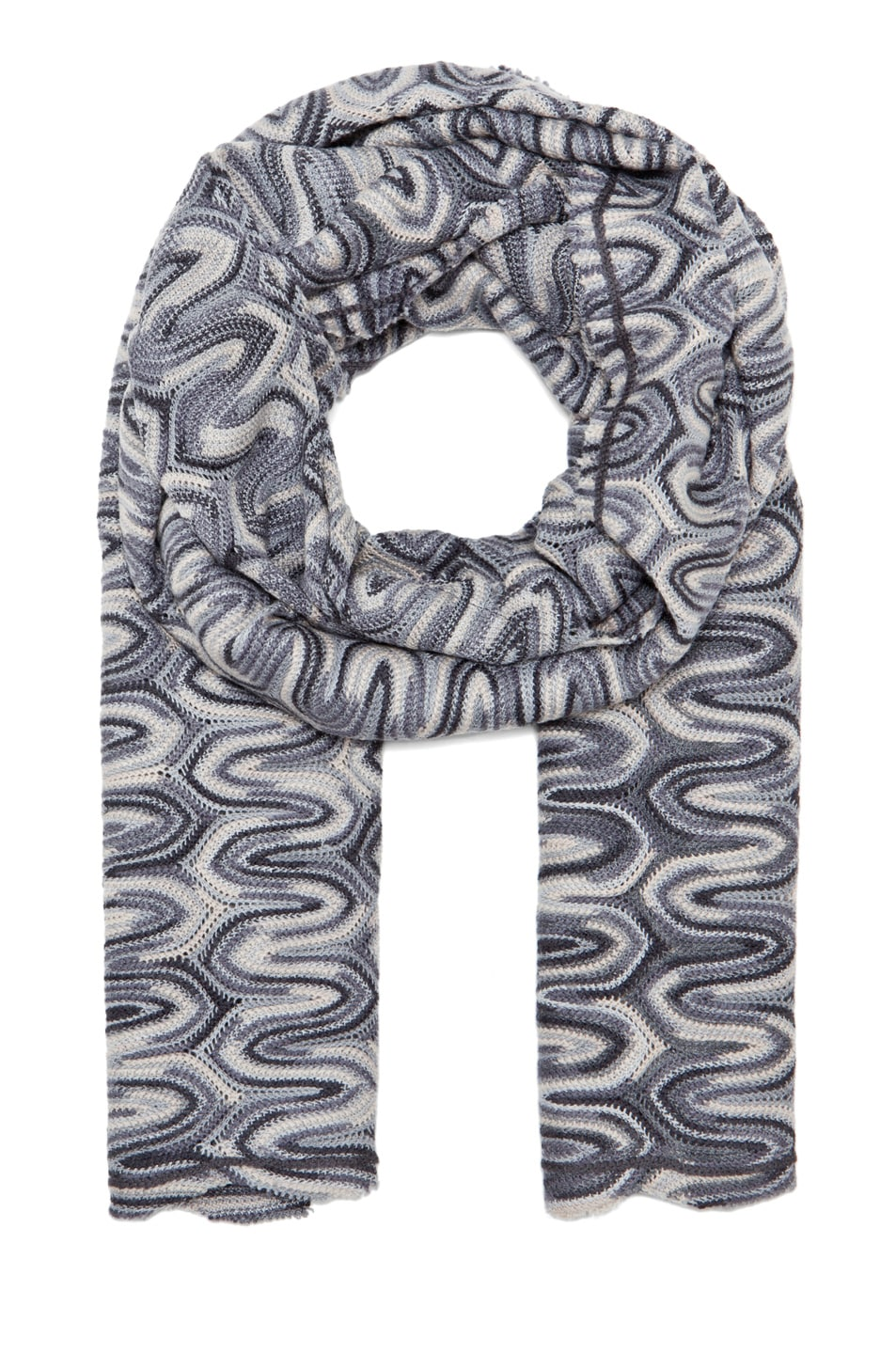 Image 1 of Missoni Zig Zag Scarf in Grey