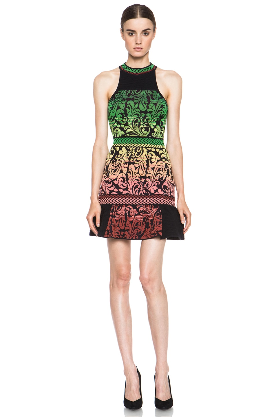 Image 1 Of M Missoni Brocade Intarsia Tank Dress In Black