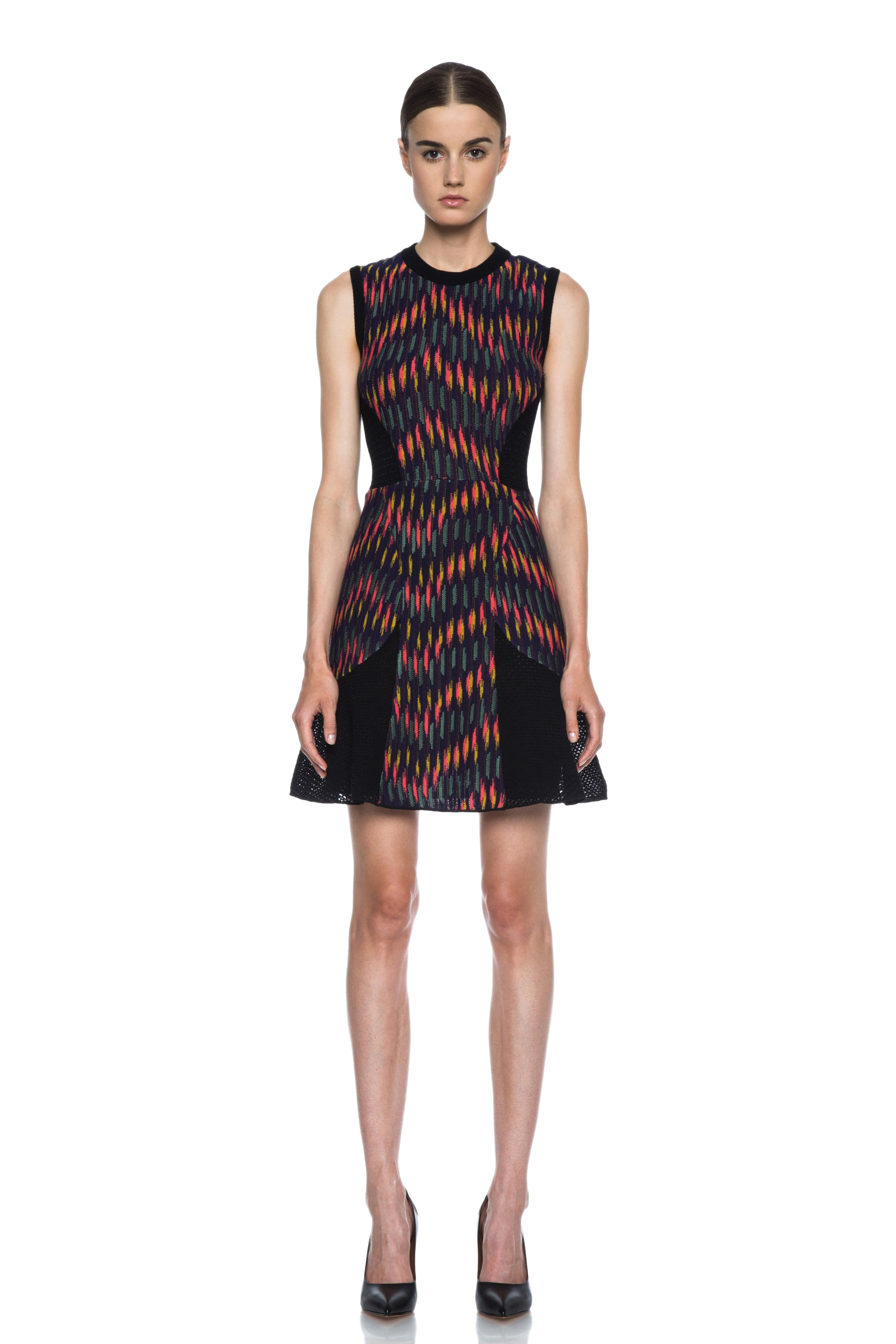 Image 1 of Missoni Broken Zig Zag Knit Tank Dress in Eggplant