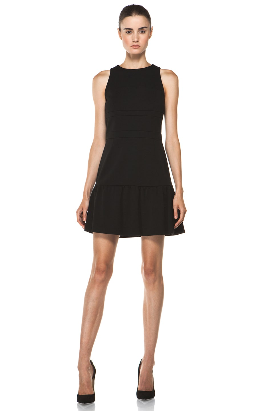 Image 1 of M Missoni Solid Double Knit Dress in Black