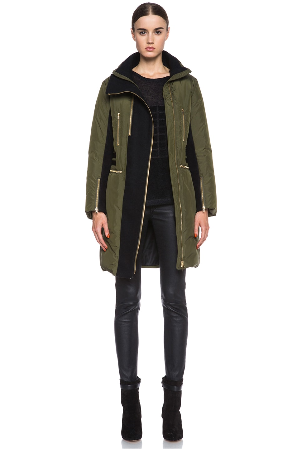 Image 1 of Missoni Solid Poly Puffer Coat in Sage