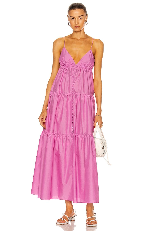 Image 1 of Matteau Triangle Tiered Sun Dress in Mauve