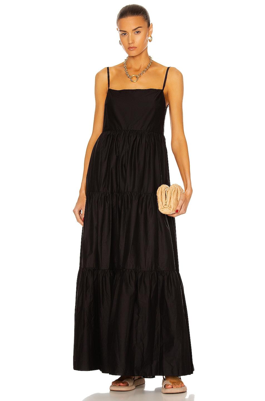 Image 1 of Matteau Tiered Low Back Sun Dress in Black