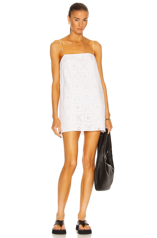 Image 1 of Matteau Crochet Broderie Shift Dress in White