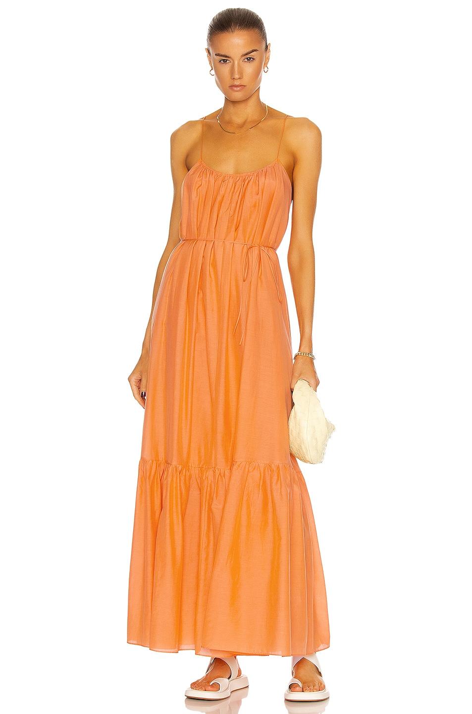 Image 1 of Matteau Single Tier Sun Dress in Papaya