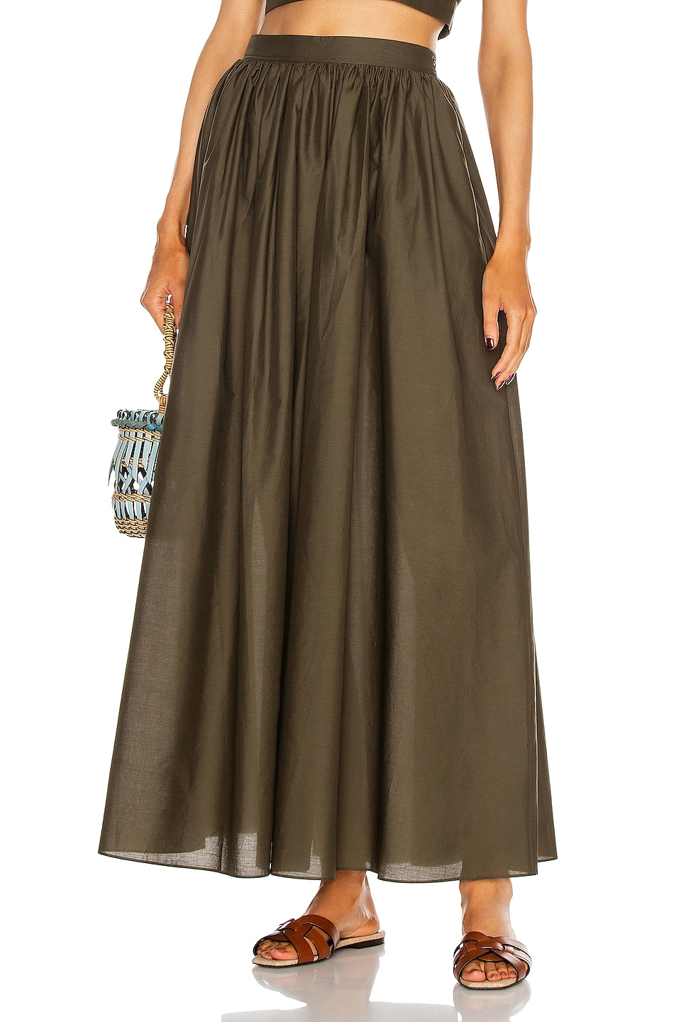 Image 1 of Matteau Full Skirt in Thyme