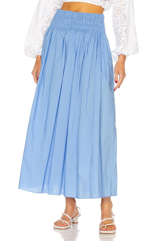 Image 1 of Matteau Shirred Skirt in Cornflower
