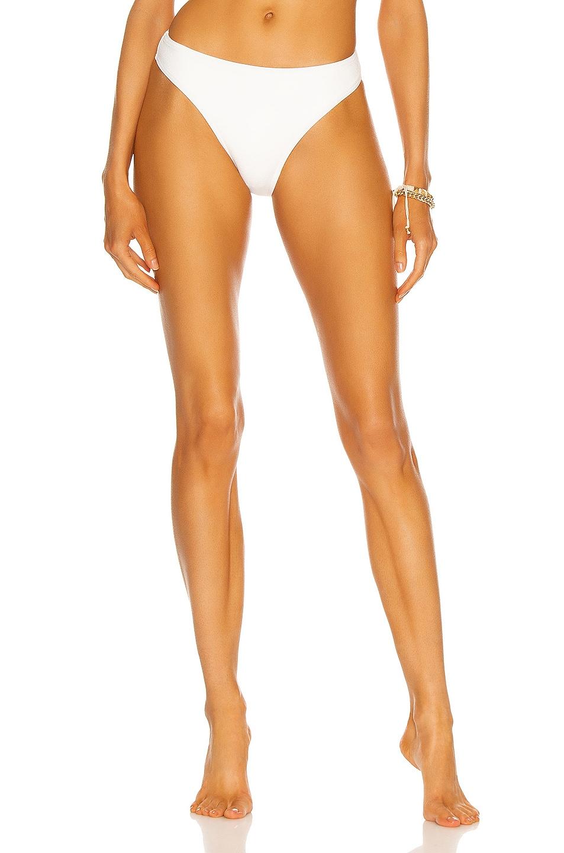 Image 1 of Matteau Nineties High Bikini Bottom in Chalk Crinkle