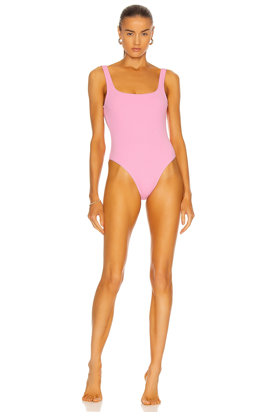 Image 1 of Matteau Nineties Maillot Swimsuit in Mauve Crinkle