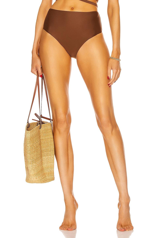 Image 1 of Matteau High Waist Bikini Bottom in Pecan