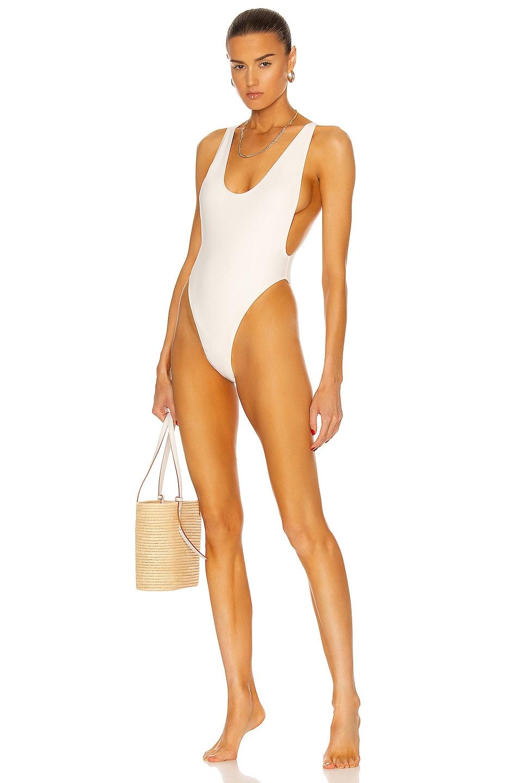 Image 1 of MATTHEW BRUCH Savannah One Piece Swimsuit in Cream Scuba