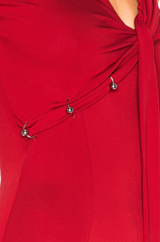 MUGLER LONG GOWN DRESS, RED