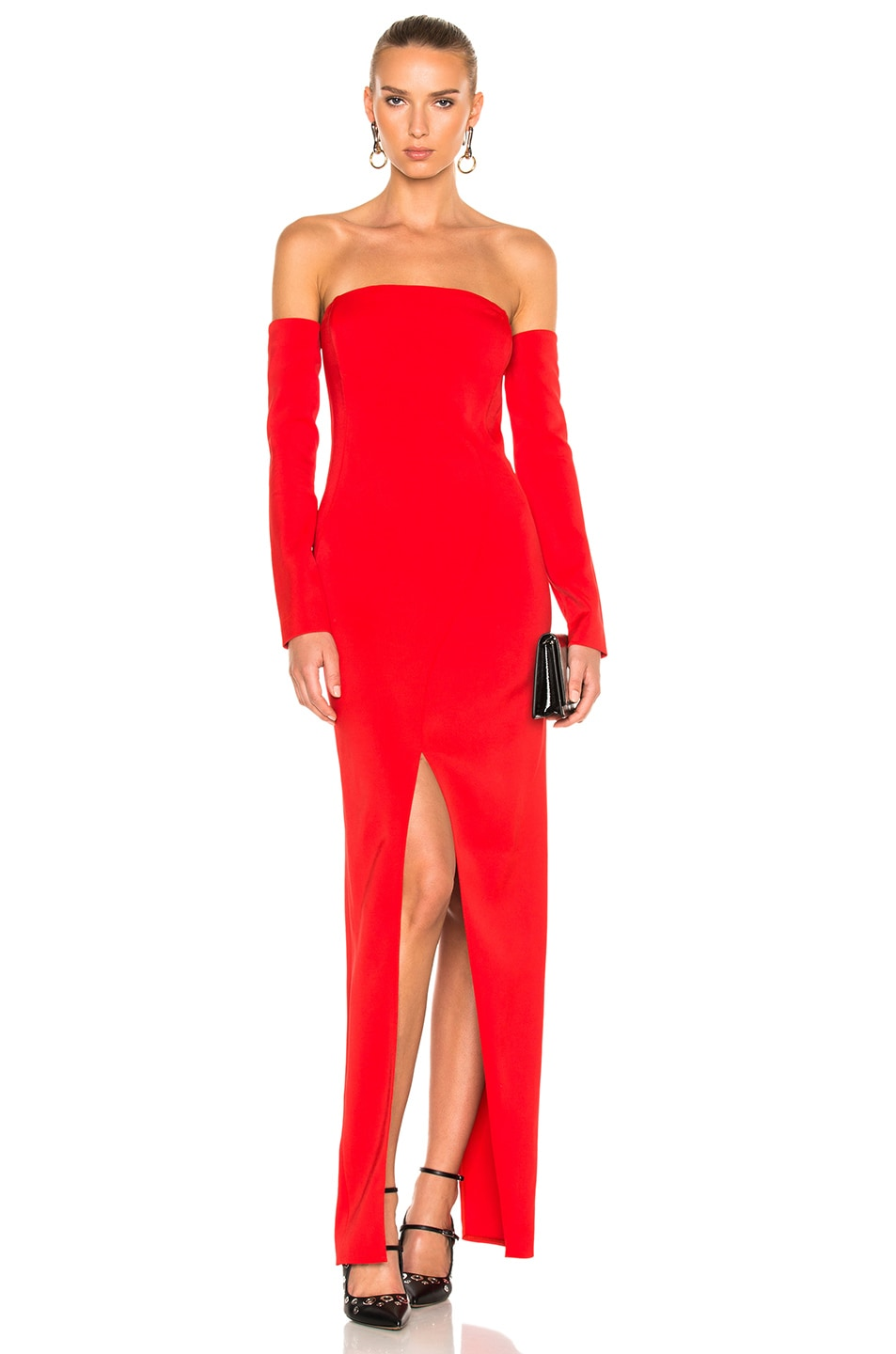 Image 1 of Mugler Viscose Cady Gown in Emergency