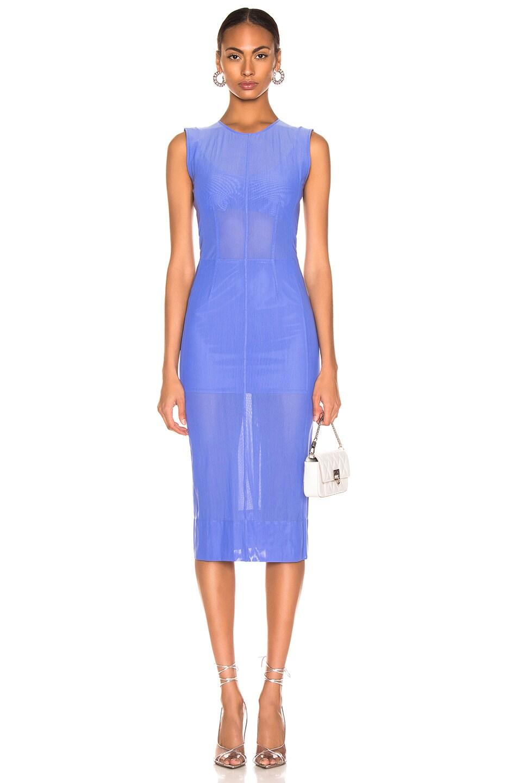 Image 1 of Mugler Mesh Dress in Mugler Blue