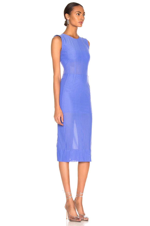Image 2 of Mugler Mesh Dress in Mugler Blue