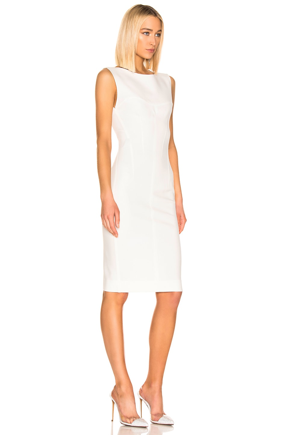 Image 2 of Mugler Sleeveless Dress in Off White