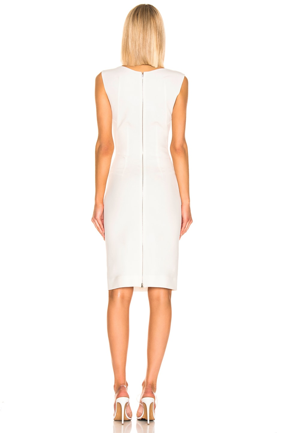 Image 3 of Mugler Sleeveless Dress in Off White