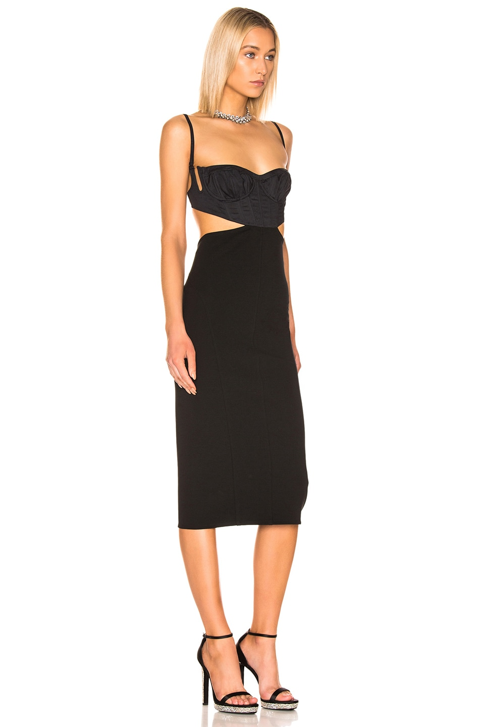 Image 2 of Mugler Cut Out Dress in Black