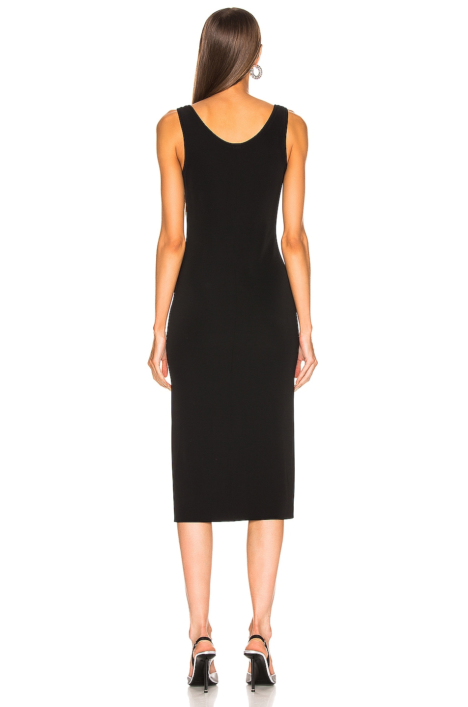 Image 3 of Mugler Hook and Eye Midi Dress in Black