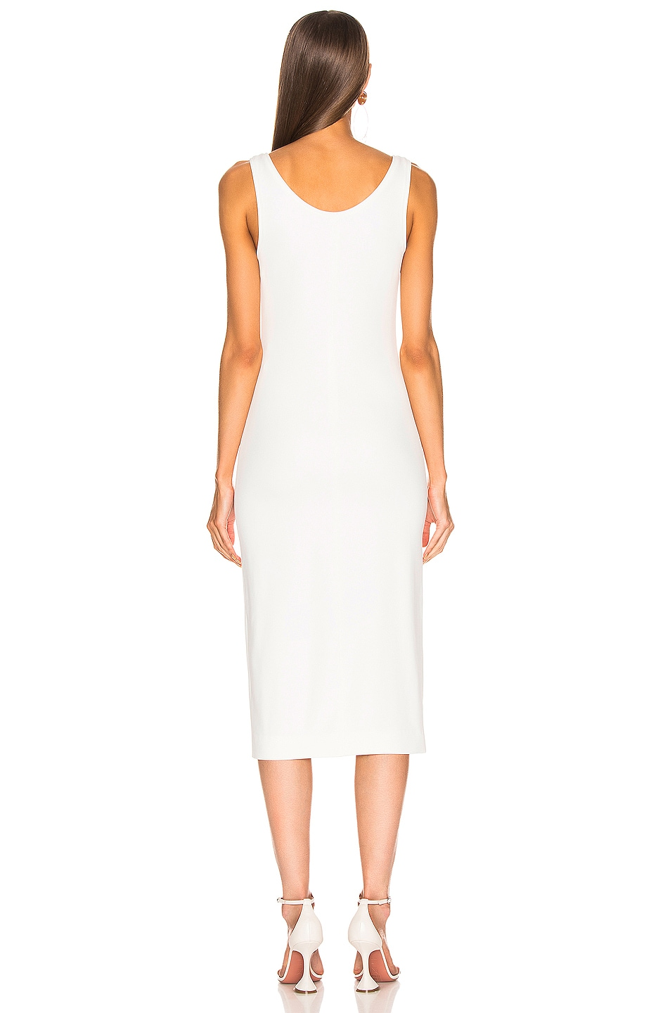Image 3 of Mugler Hook and Eye Midi Dress in White