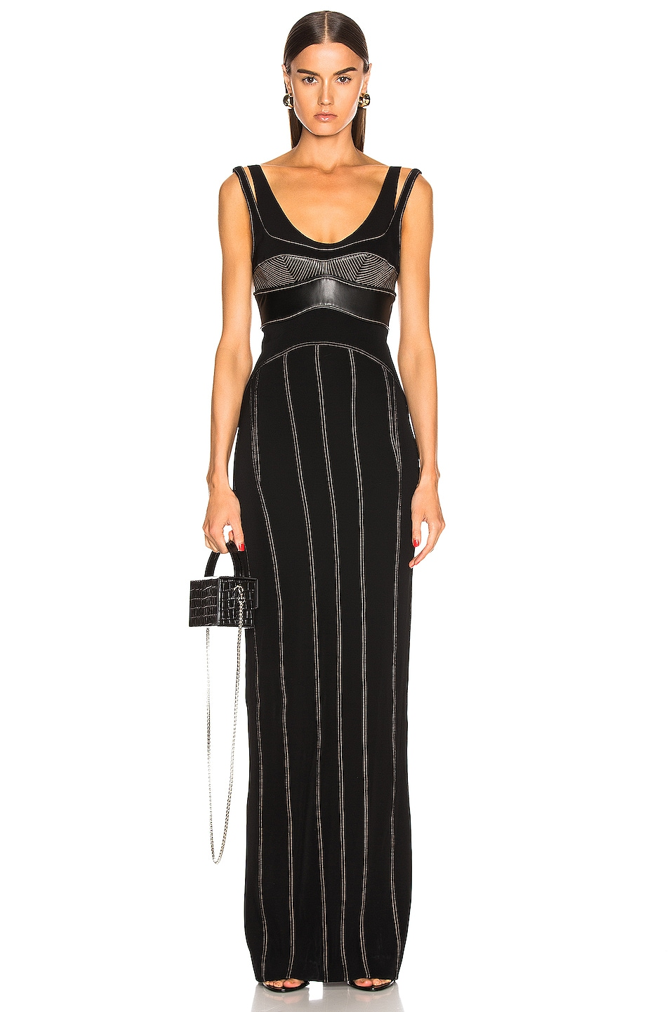Image 1 of Mugler Detail Dress in Black