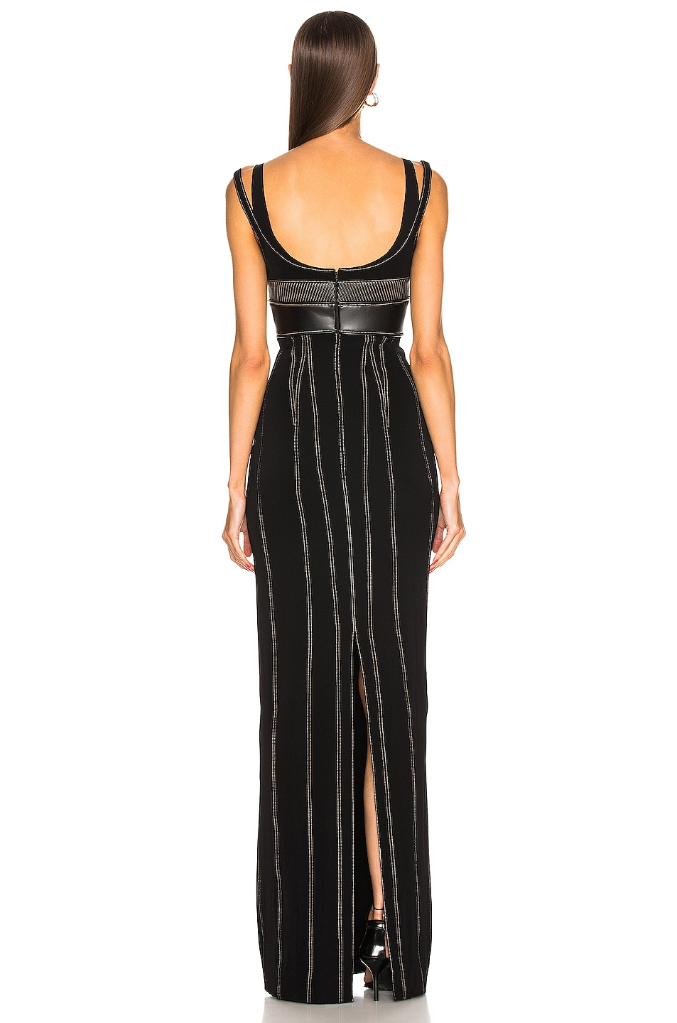 Image 3 of Mugler Detail Dress in Black