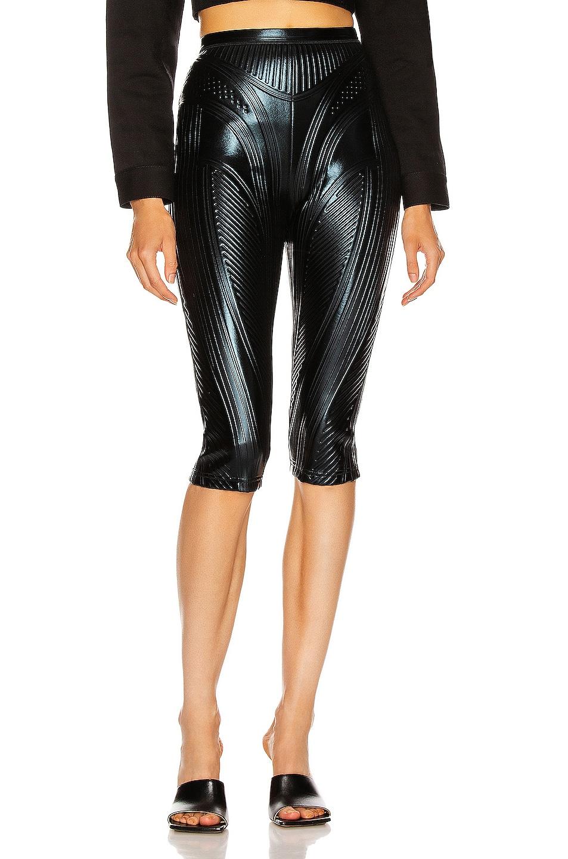 Image 1 of Mugler Skinny Bermuda Short in Black