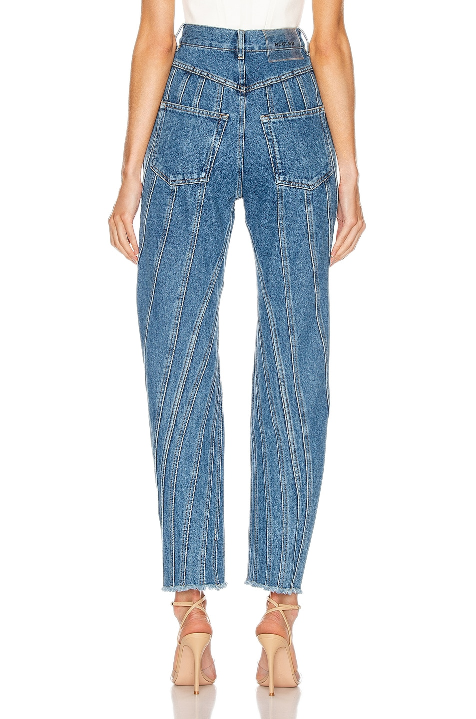 Image 3 of Mugler High Spiral Jean in Medium Blue