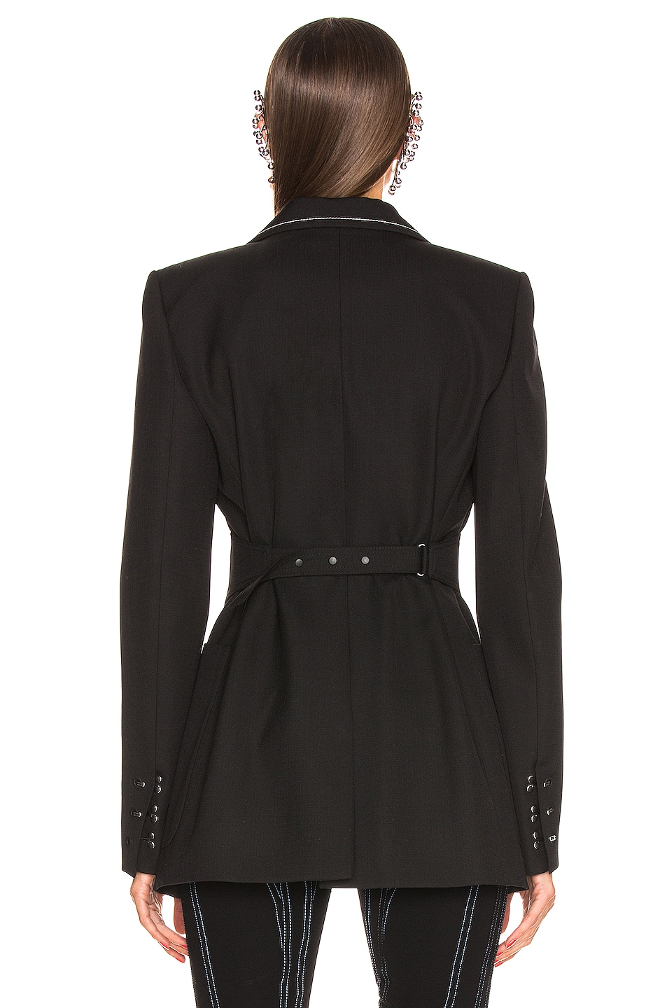 Image 3 of Mugler Tailored Blazer in Black
