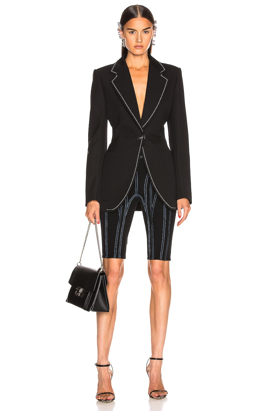 Image 4 of Mugler Tailored Blazer in Black