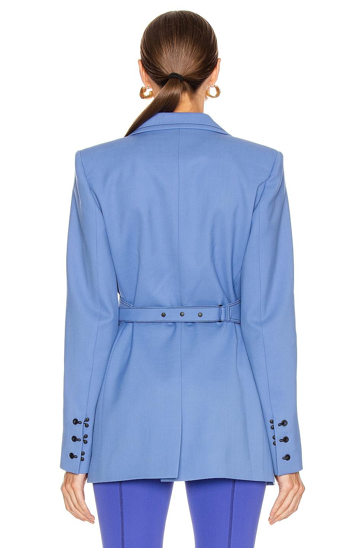 Image 3 of Mugler Single Breasted Jacket in Blue