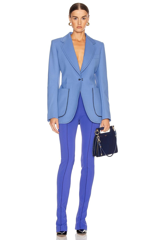 Image 4 of Mugler Single Breasted Jacket in Blue
