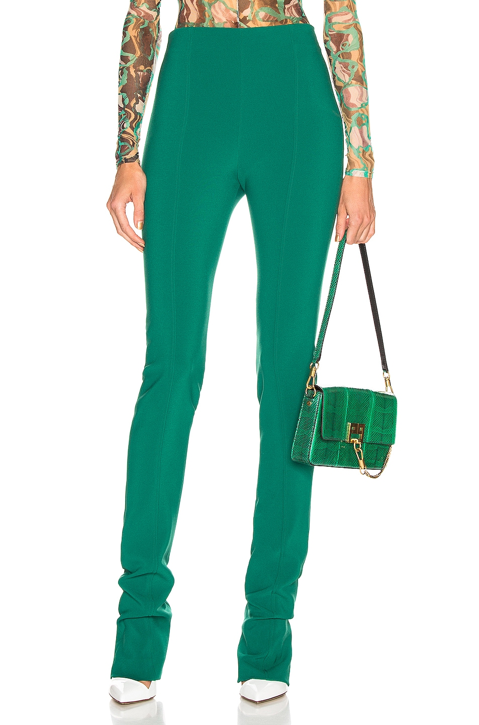 Image 1 of Mugler Skinny Pant in Jade